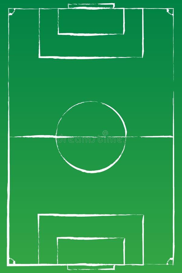 Voetbalgebied of van het voetbalgebied achtergrond Het vector groene hof voor creeert spel vector illustratie