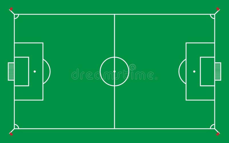 voetbalgebied of voetbalgebied voor patroon en achtergrond, vector vector illustratie