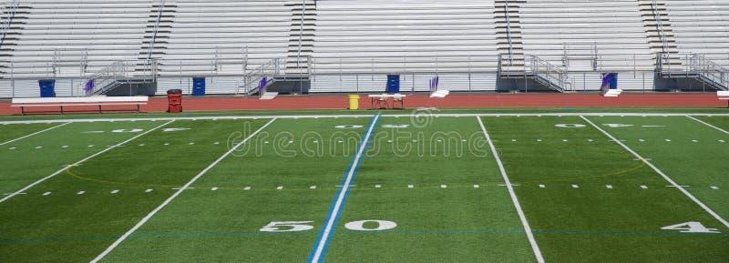 Voetbalgebied 50 Yard Lijn stock foto