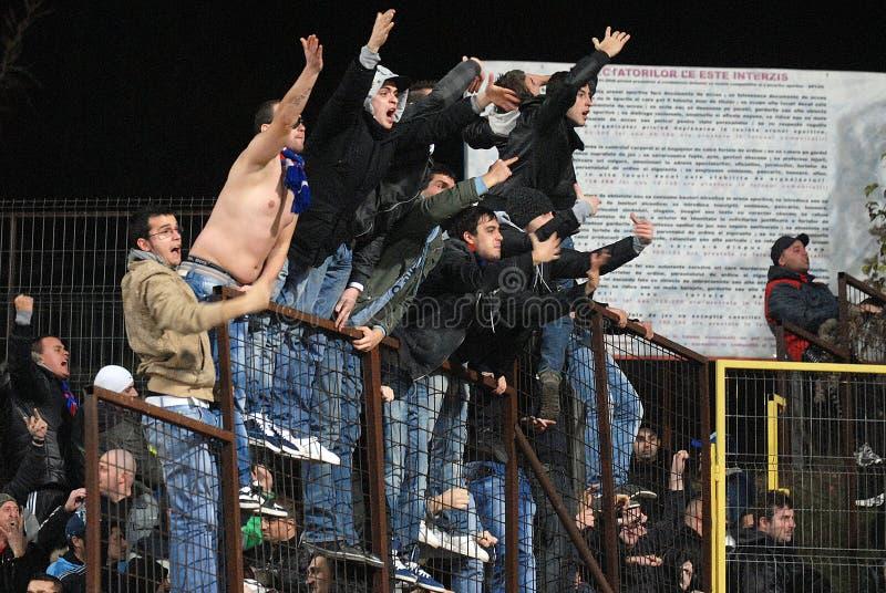 Voetbalhooligans royalty-vrije stock fotografie