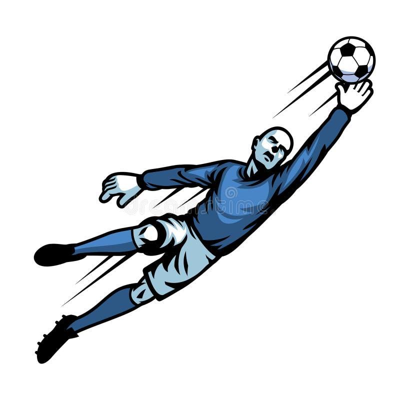 Voetbalkeeper royalty-vrije illustratie