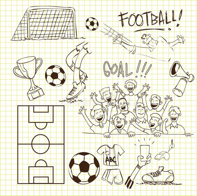 Voetbalkrabbel stock illustratie