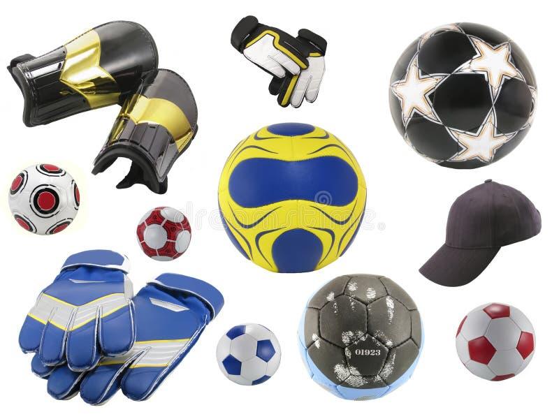Voetballen royalty-vrije stock afbeeldingen