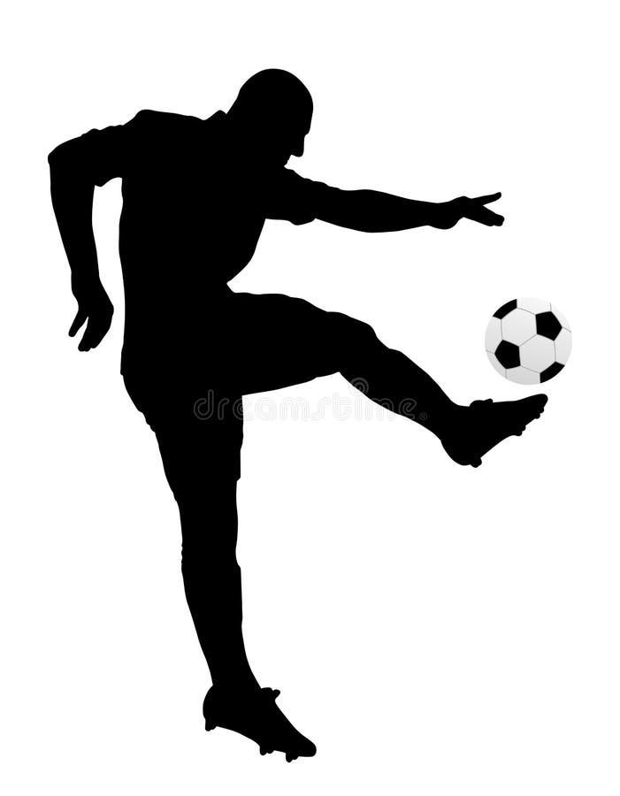Voetballer stock illustratie
