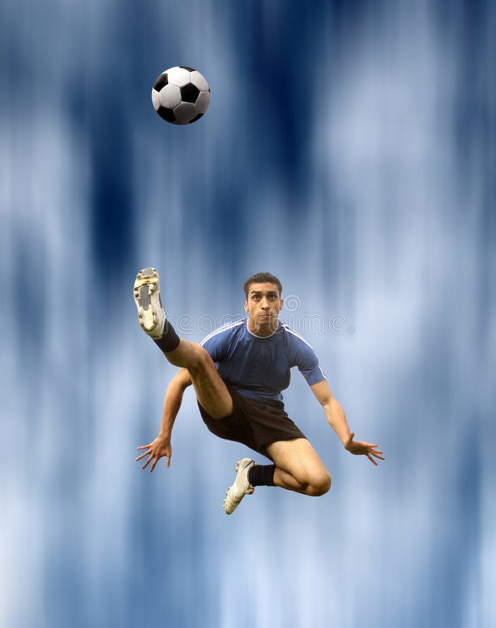 Voetballer stock afbeelding