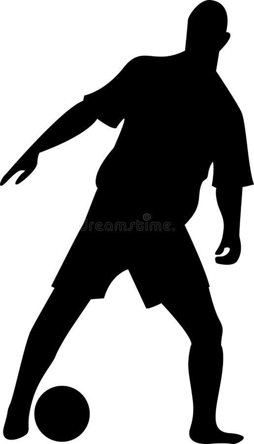 Voetballer royalty-vrije illustratie