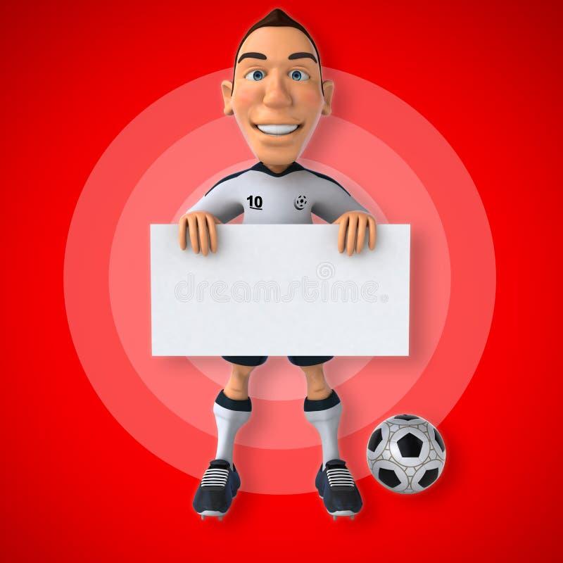 Voetballer met bal vector illustratie