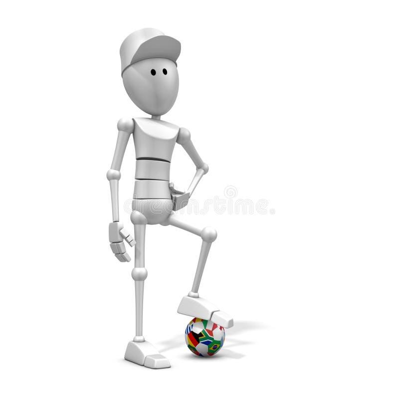 Voetballer met wereldkop 2010 stock illustratie