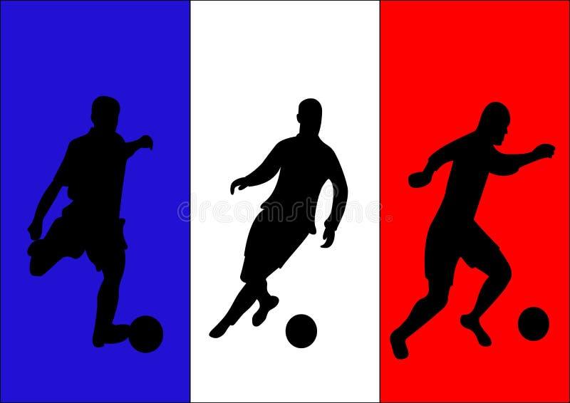Voetballers stock illustratie