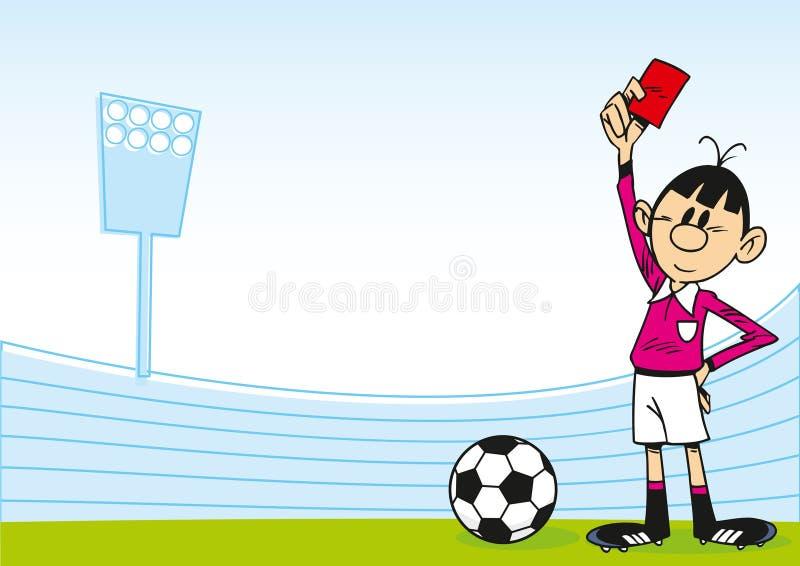 Voetbalscheidsrechter stock illustratie