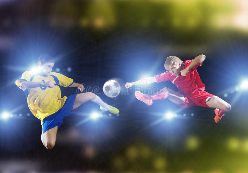 voetbalspel royalty-vrije stock afbeelding