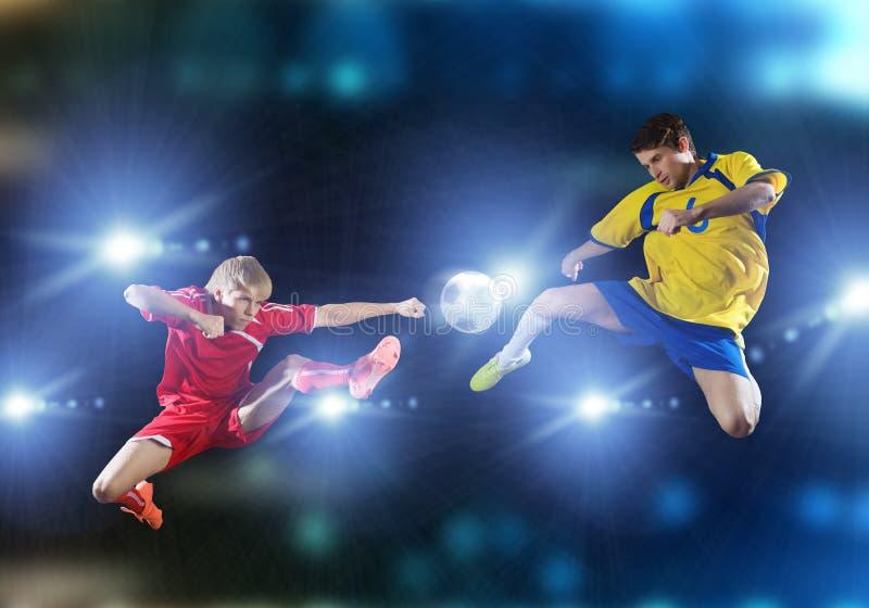 voetbalspel royalty-vrije stock foto