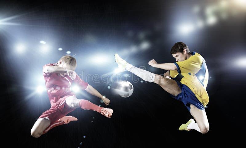 voetbalspel stock fotografie