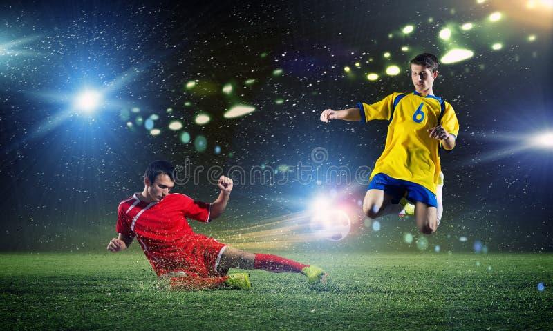 voetbalspel stock foto