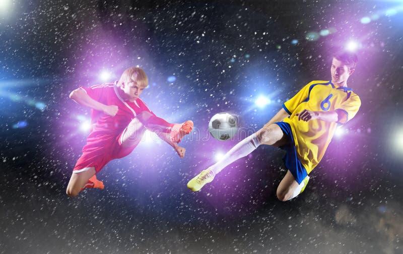 voetbalspel royalty-vrije stock afbeeldingen