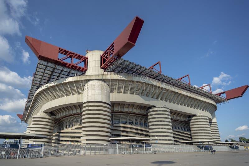Voetbalstadion ?La Scala del calcio ? stock foto's