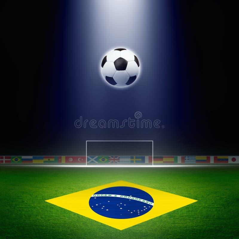 Voetbalstadion vector illustratie