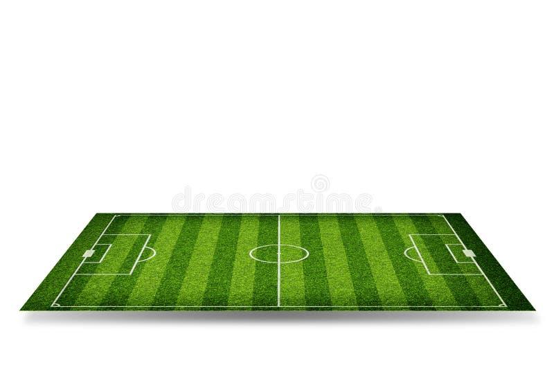Voetbalstadion met poorten stock afbeelding