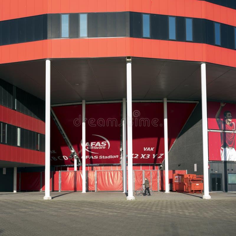 Voetbalstadion van az Alkmaar in Nederland royalty-vrije stock foto's