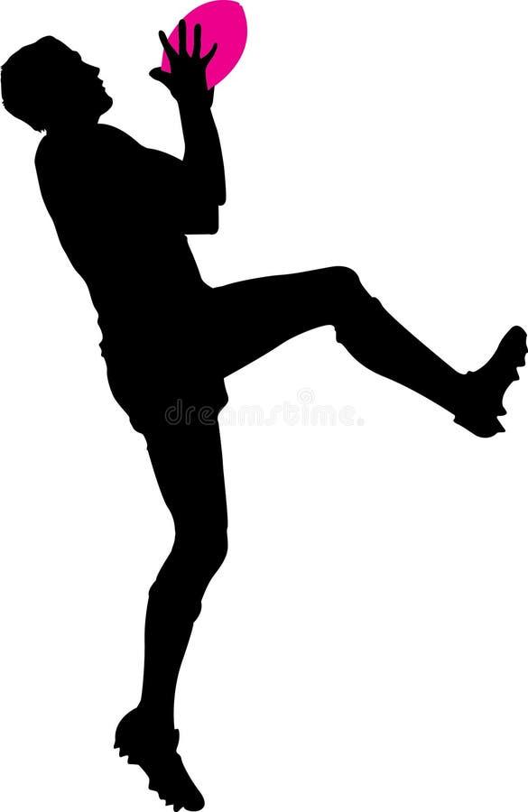 Voetbalster stock illustratie