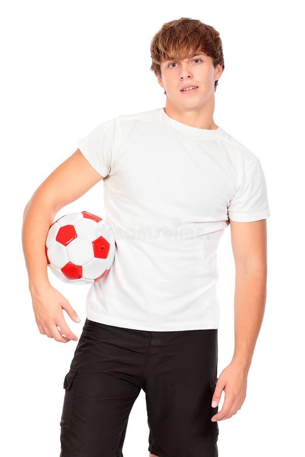 Voetbalster stock afbeelding
