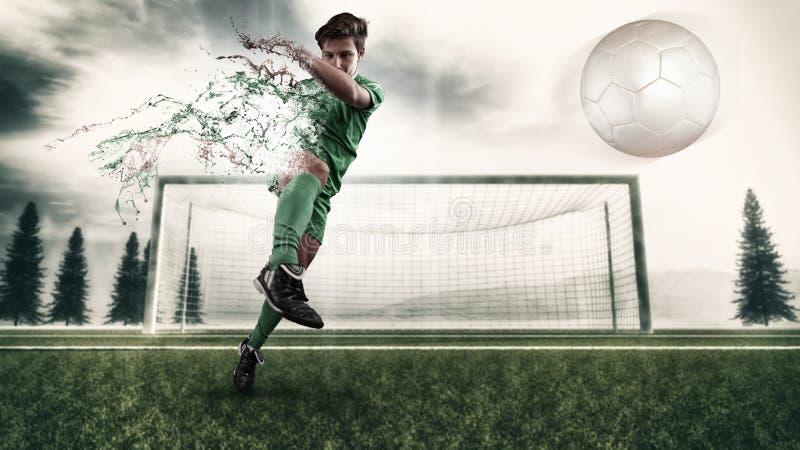 Voetbalster het spelen royalty-vrije stock afbeelding