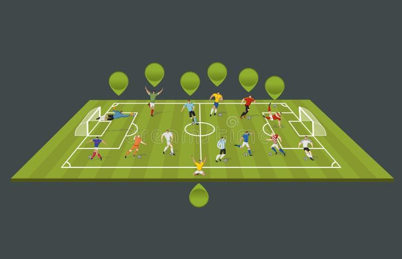 Download Voetbalsters vector illustratie. Illustratie bestaande uit professioneel - 54084828