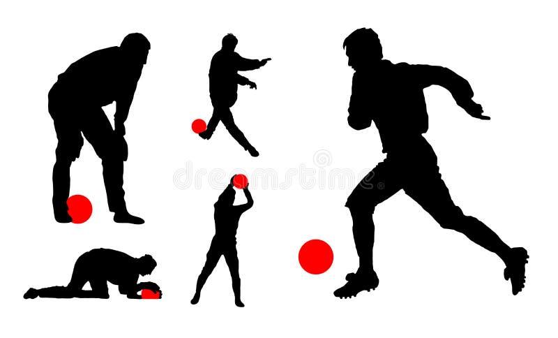 Voetbalsters. vector illustratie stock afbeeldingen