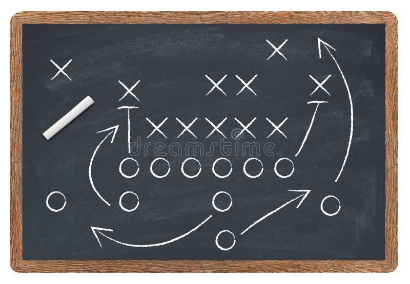 Voetbalstrategie stock afbeeldingen