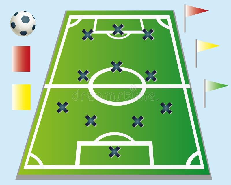 Voetbalstrategie vector illustratie
