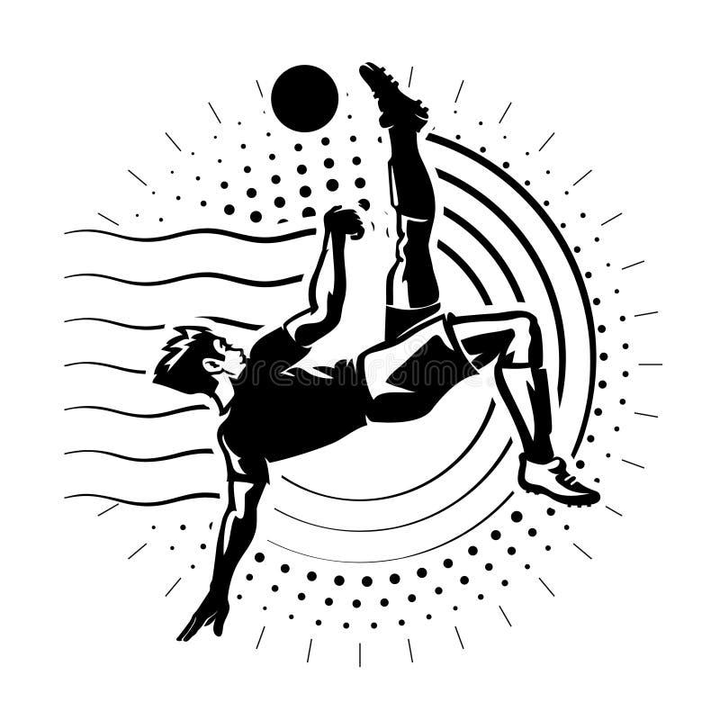 Voetbalstriker vector illustratie