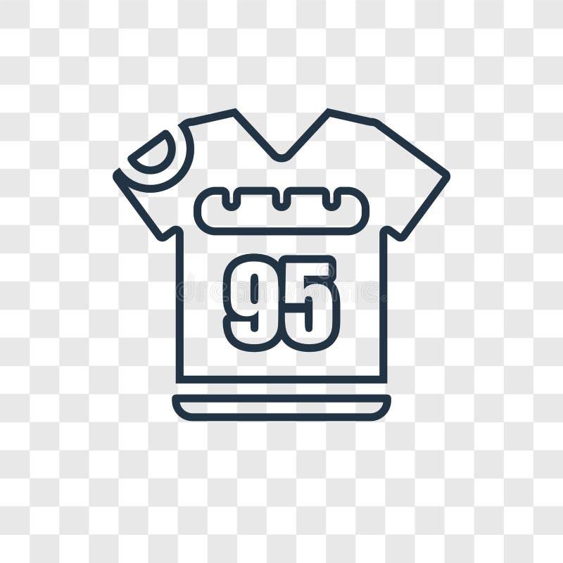 Voetbalt-shirt met nummer 83 isola van het concepten vector lineaire pictogram vector illustratie