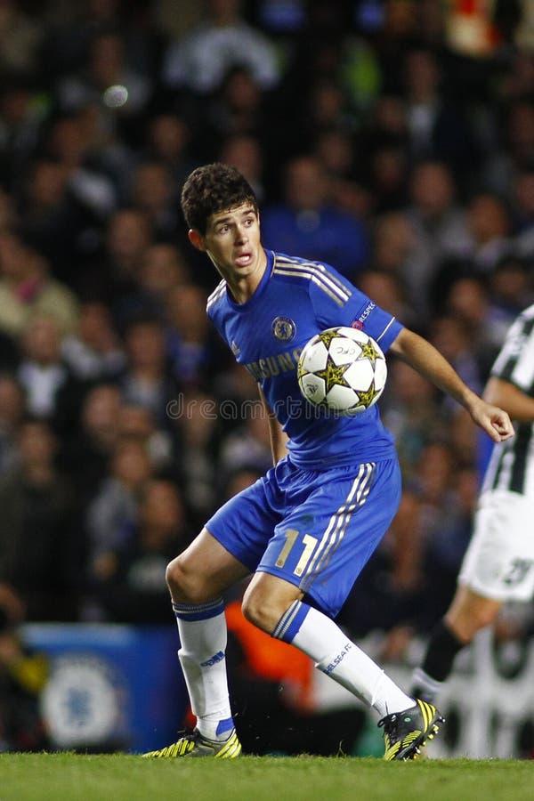 Voetbaluefa verdedigt Liga Chelsea v Juventus royalty-vrije stock afbeelding