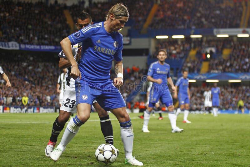 Voetbaluefa verdedigt Liga Chelsea v Juventus royalty-vrije stock foto