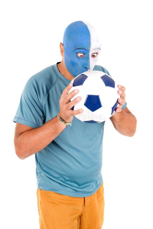 Voetbalventilator royalty-vrije stock foto