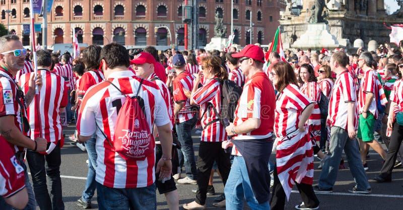 Voetbalventilators van Atletisch Bilbao royalty-vrije stock foto