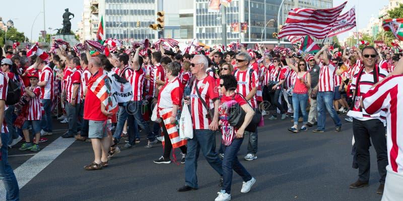 Voetbalventilators van Club Bilbao royalty-vrije stock afbeelding