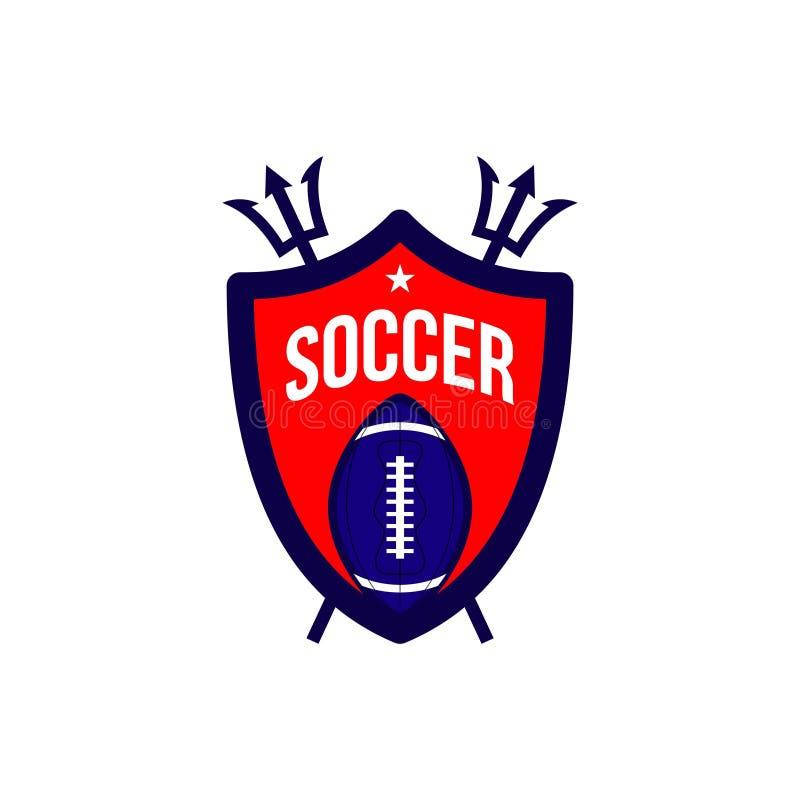 Voetbalvoetbal Logo Vector Template Design Illustration royalty-vrije illustratie