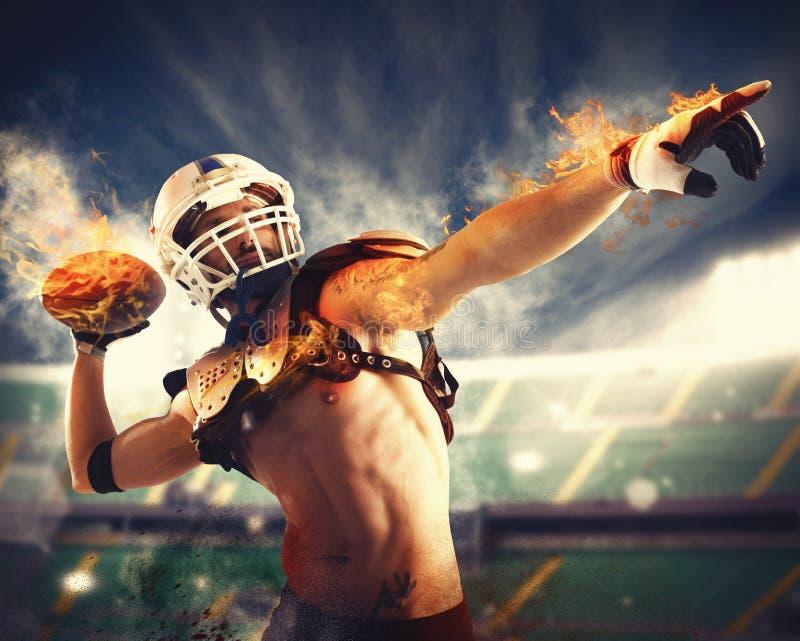 Voetbalvuurbol royalty-vrije stock foto