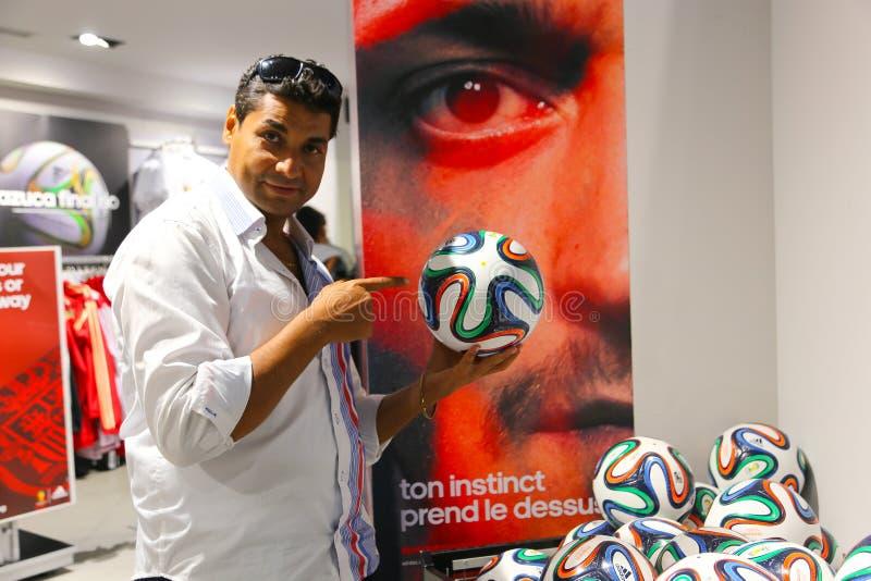 Voetbalwandelgalerij - Barcelona, Spanje stock fotografie