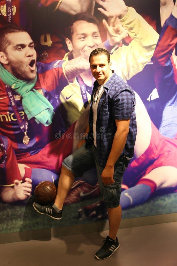 Voetbalwandelgalerij - Barcelona, Spanje royalty-vrije stock fotografie