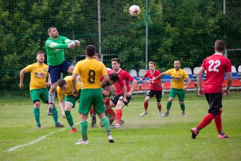 Voetbalwedstrijdster Lyubertsy - Kotelniki royalty-vrije stock foto