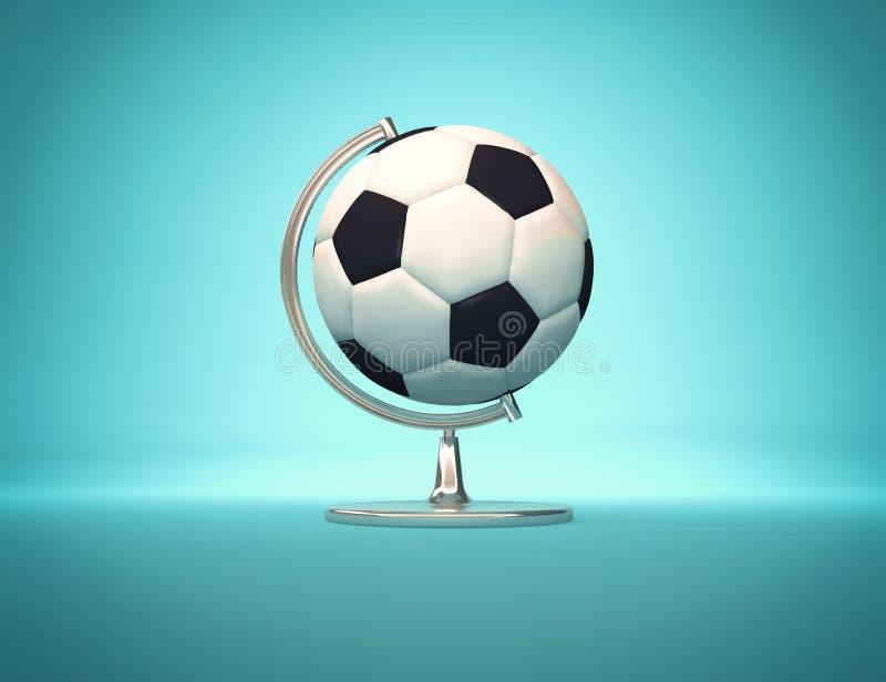 Voetbalwereld - bureaubol stock illustratie