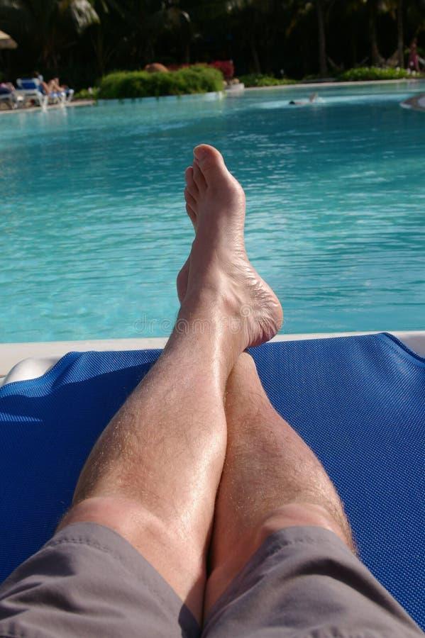 Voeten 1 van de pool stock foto