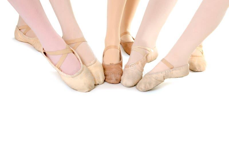 Voeten Balletstudenten stock foto's