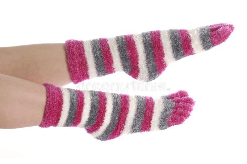 Voeten met sokken  royalty-vrije stock afbeeldingen
