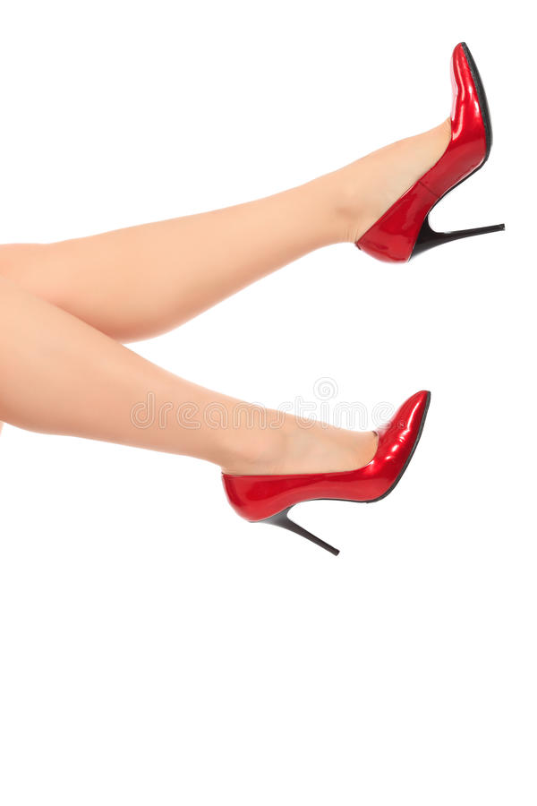 Voeten in schoenen stock afbeelding