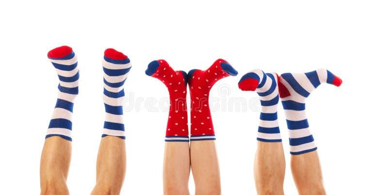 Voeten in sokken stock fotografie