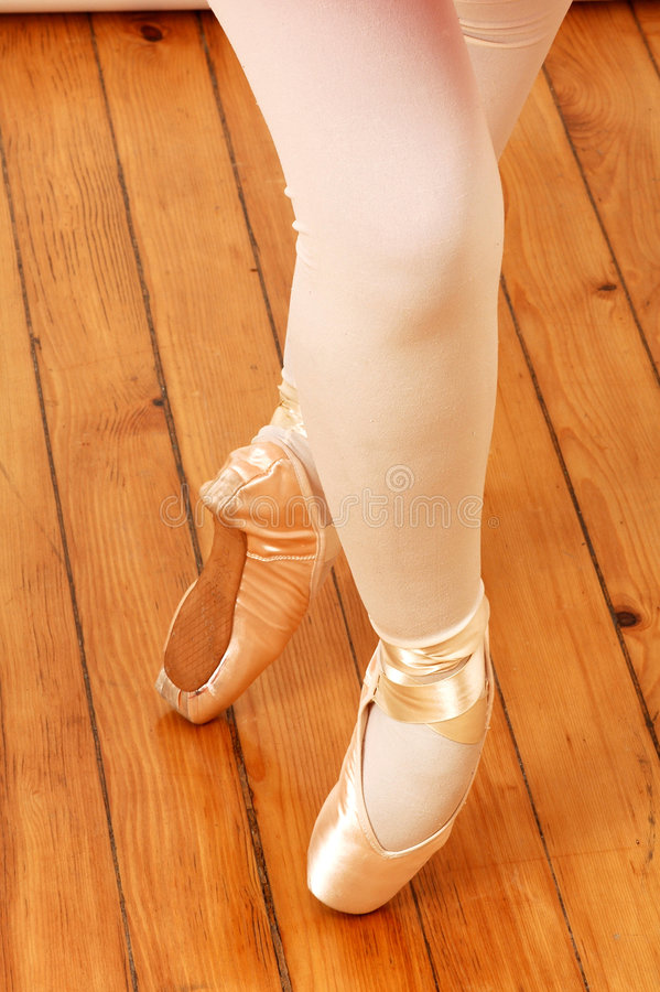 Voeten van ballerina royalty-vrije stock foto's