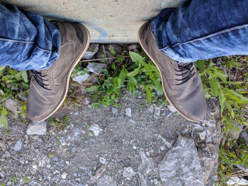 voeten van hierboven royalty-vrije stock foto's